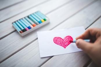 image dessin coeur enfant kaboompics